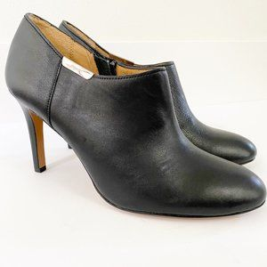 Coach Seneca Glazed Leather Zip Up Ankle Boots 9